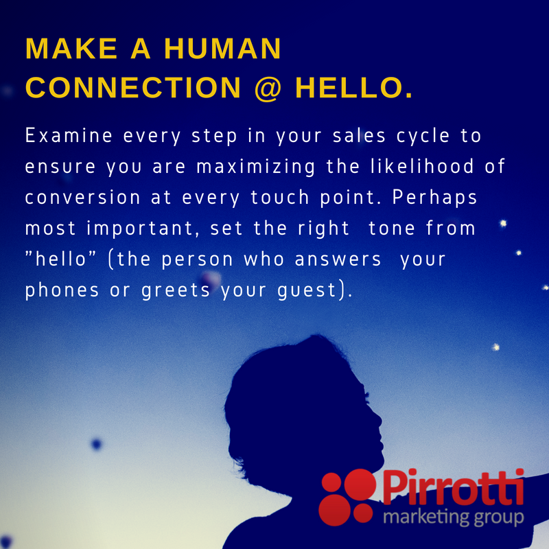 Make a human connection @ Hello.