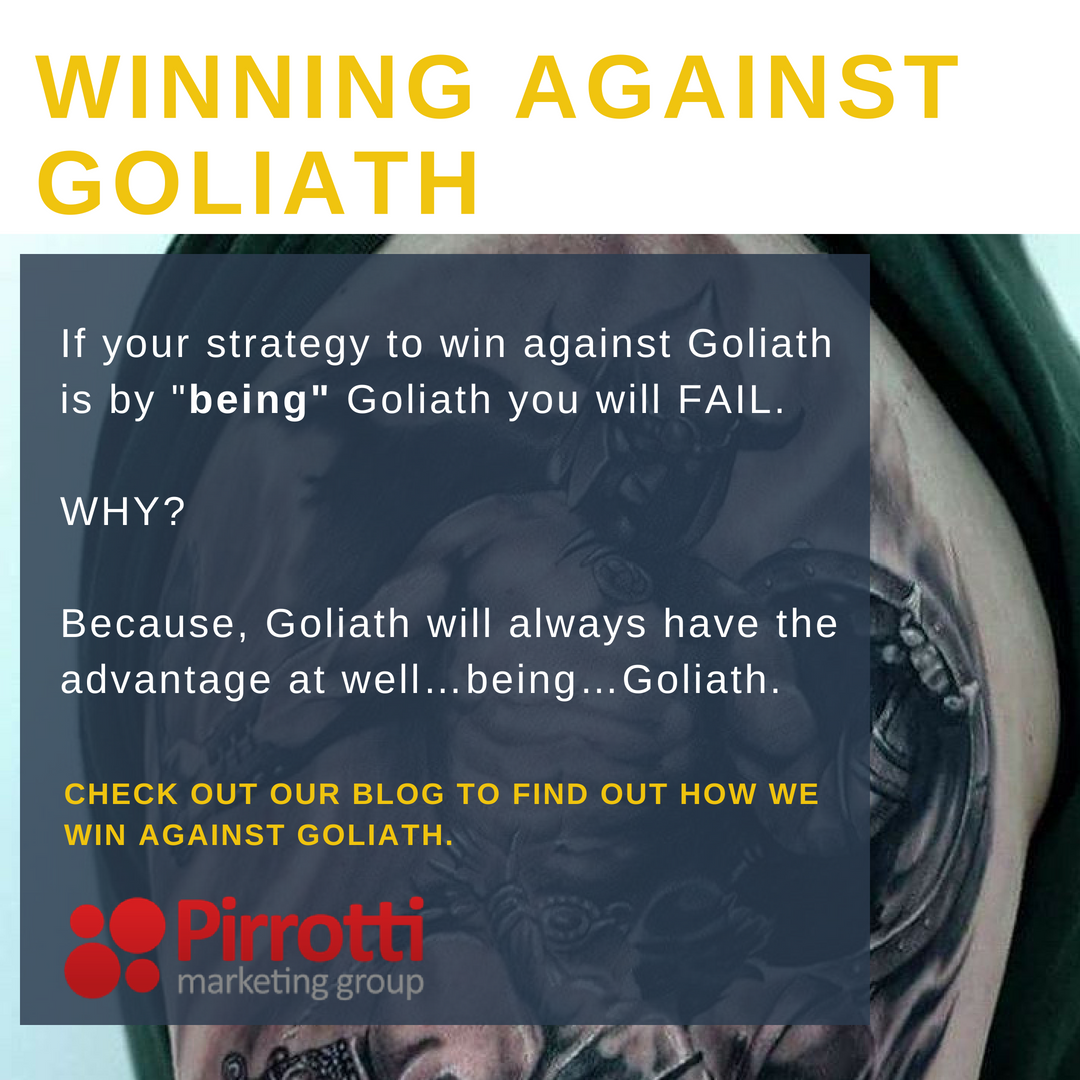 Winning against Goliath. Here's how.