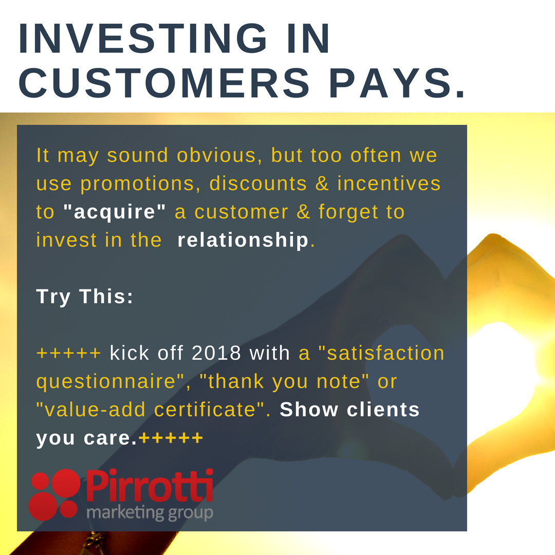 Investing in customers…pays.